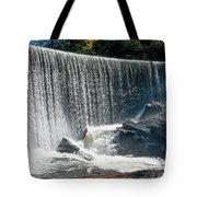 Lake Sequoyah Dam Falls - Highlands, North Carolina Tote Bag
