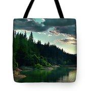 Lake Shasta Painterly Tote Bag