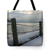 Lake Snow Tote Bag