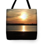 Lake Sunset-midrange Tote Bag