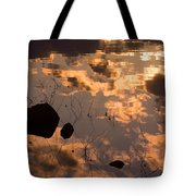 Lake Sunset Reflections Tote Bag