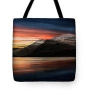 Lake Sunset Snowdonia Tote Bag