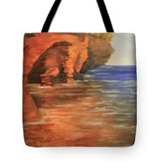 Lake Superior Cave Tote Bag