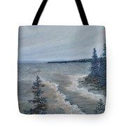 Lake Superior North Shore Waves  Tote Bag