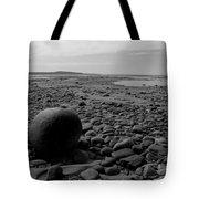 Lake Superrior Rock Black And White Tote Bag
