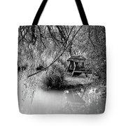 Lake Swing - Black And White Tote Bag
