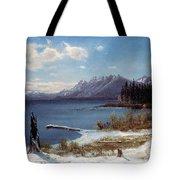 Lake Tahoe Tote Bag by Albert Bierstadt