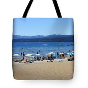 Lake Tahoe Beach Scene Tote Bag