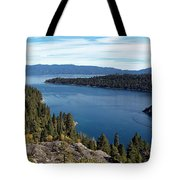 Lake Tahoe Emerald Bay Panorama Tote Bag