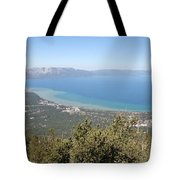 Lake Tahoe From The Mountain Tote Bag