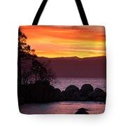 Lake Tahoe Sunset Colors Tote Bag