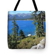 Lake Tahoe With Mountains Tote Bag