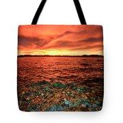 Lake Tahoe...blood Moon Sunset Tote Bag