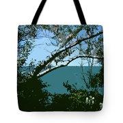 Lake Through The Trees Tote Bag