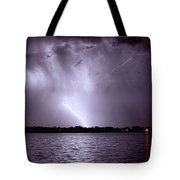 Lake Thunderstorm Tote Bag