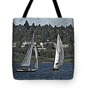 Lake Union Regatta Tote Bag