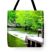 Lake Waccamaw Dam Tote Bag