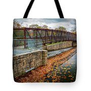 Lake Waterford Fall Waterscape Tote Bag