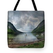 Lake Willoughby  Panorama One Tote Bag
