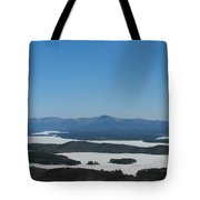 Lake Winnipesaukee View From Mt. Major Tote Bag
