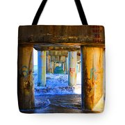 Lake Worth, Florida Pier Tote Bag