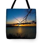 Lakeshore Sunset Tote Bag