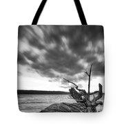 Lakeshore Winter Clouds Tote Bag