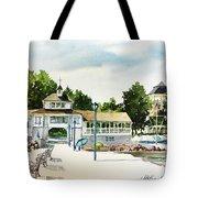 Lakeside Dock And Pavilion Tote Bag