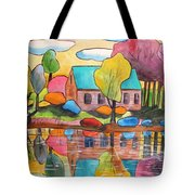 Lakeside Dream House Tote Bag