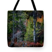 Lakeside In The Autumn Tote Bag
