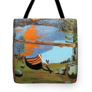 Lakeside Retreat Tote Bag
