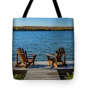 Lakeside Seating For Two Tote Bag