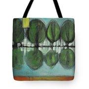 Lakeside Trees Tote Bag