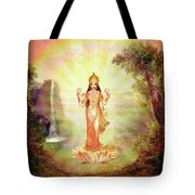 Lakshmi With The Waterfall Tote Bag