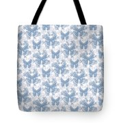 Lalabutterfly Blue Wedgewood Reverse Tote Bag