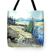 Lamar Valley Grizz Tote Bag