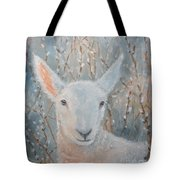Lamb In The Willows Tote Bag