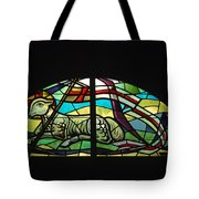 Lamb Stained Glass Window Tote Bag