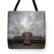 Lambeau Field Clouds Tote Bag