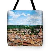 Lamberti Tower View Of Verona Italy Tote Bag
