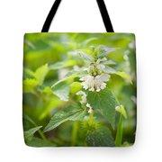 Lamium Album White Flowers Macro Tote Bag