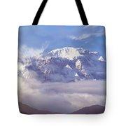 Lamjung Himal Peak Above The Clouds Tote Bag