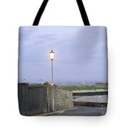 Lamppost. Night Is Coming. Tote Bag