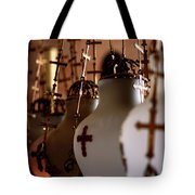 Lamps Inside The Church Of The Holy Sepulchre, Jerusalem Tote Bag