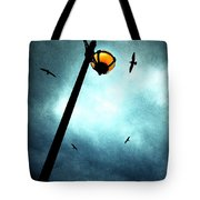 Lamps With Birds Tote Bag