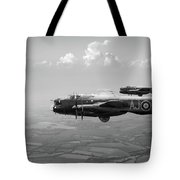 Lancasters Aj-g And Aj-n Carrying Upkeeps Black And White Versio Tote Bag