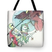 Lancelot And Griffin  Tote Bag