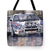 Lancia 037 Martini Rally 1983 Tote Bag