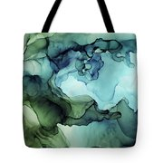 Land And Water Abstract Ink Painting Tote Bag
