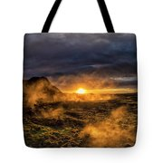 Land Of Fire And Ice Tote Bag